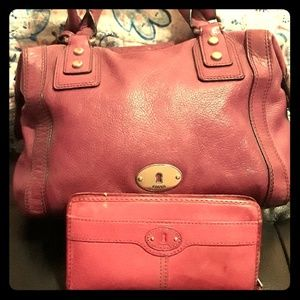 FOSSIL🗝 Pink bag